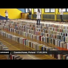 Video thumbnail for youtube video A new Guinness World Record for a book domino chain was set in Poland (video)