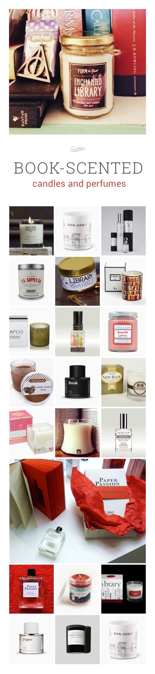 Best book-scented candles and perfumes #infographic