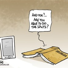 Book splits - cartoon by Frederick Deligne