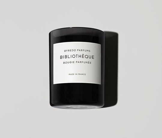 Library-scented candles: Byredo Bibliotheque Fragranced Candle