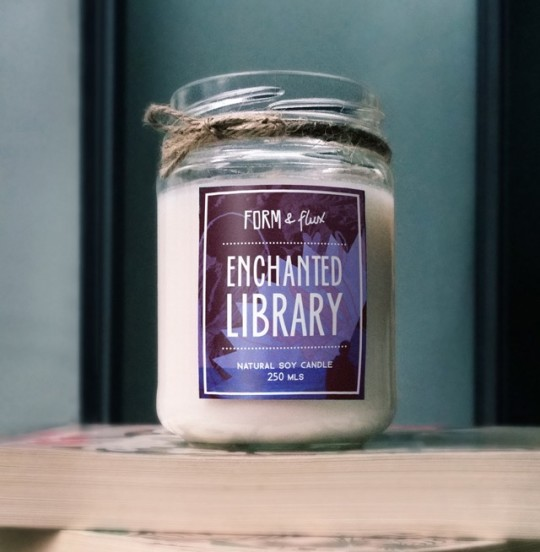 Best gifts for book lovers: Enchanted Library Candle from Form and Flux