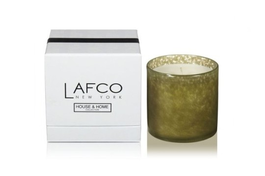 Library-scented candles: Lafco Home Collection Candles - Library