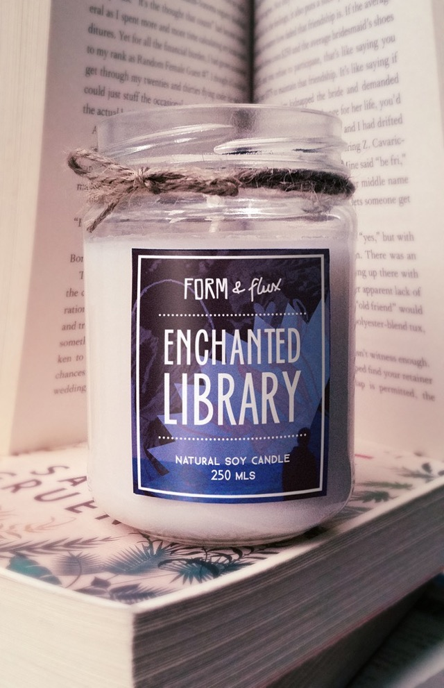 Natural soy candle Enchanted Library