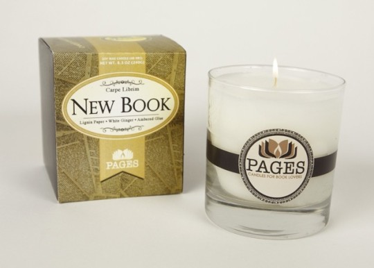 New Book Scented Candle by Pages