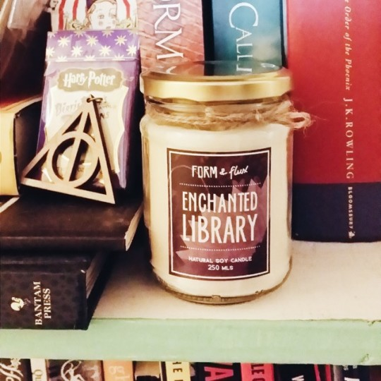 Paper-scented candles: Form & Flux Enchanted Library