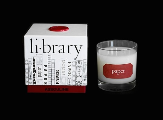 Book-scented candles: Paper Library Candle by Assouline