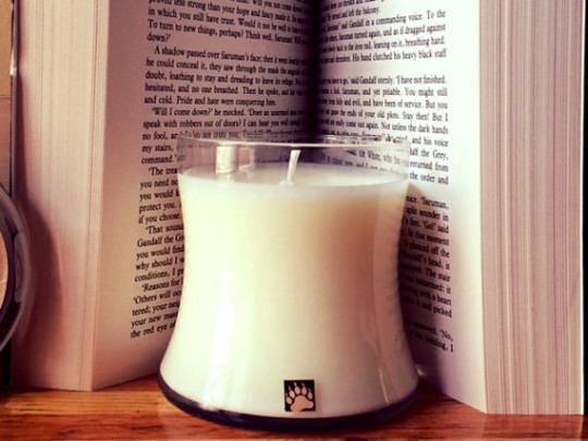 Paper-scented candles: Paperback Soy Candle