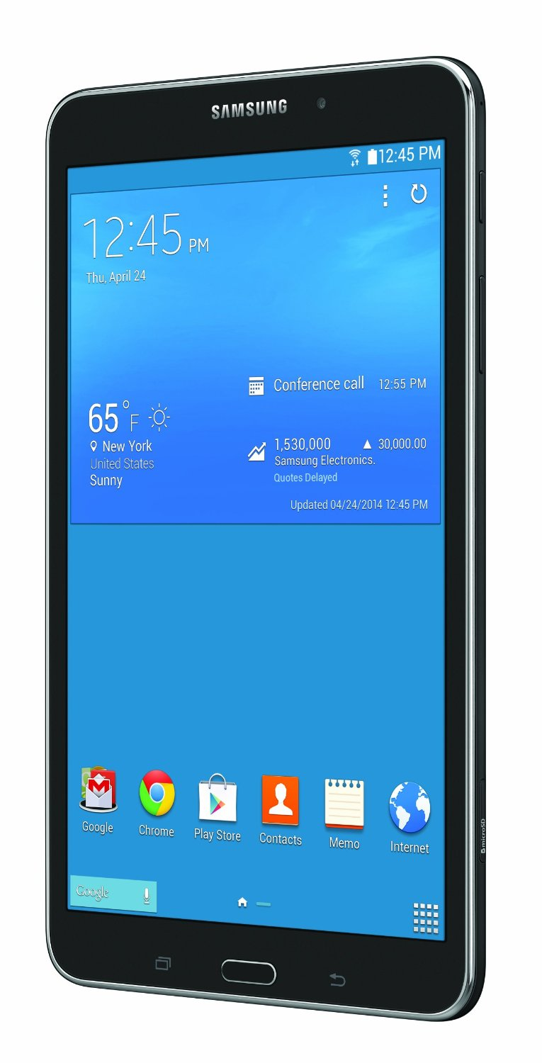 samsung galaxy tab 4 8 inch black front left angle
