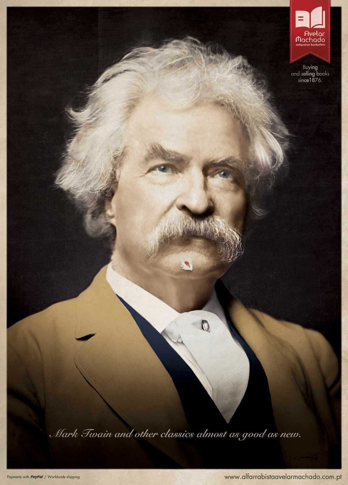 Ads for books - Almost as good as new - Mark Twain