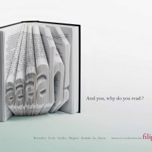 Ads for bookstores - Filigranes - Aaaaah