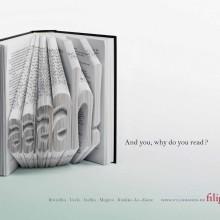 Ads for bookstores - Filigranes - Aaaaah