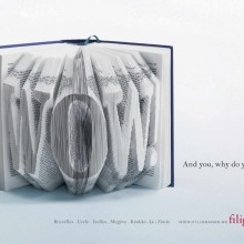 Ads for bookstores - Filigranes - WOW