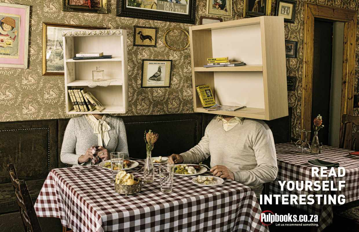 Ads for bookstores - Read Yourself Interesting - Lunch