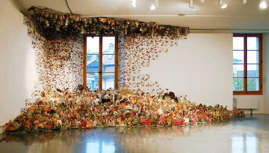 Andrea Mastrovito - art installations from repurposed textbooks - picture 5