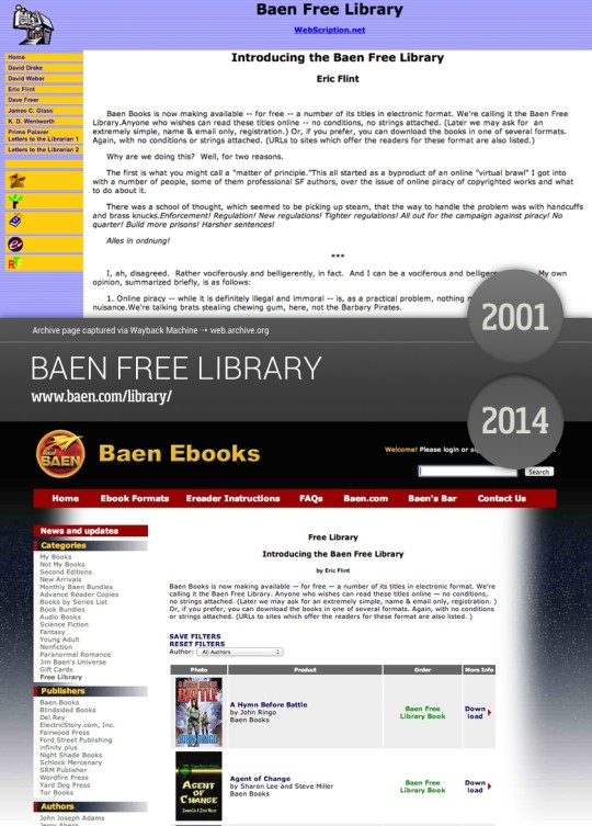Book sites in the old days - Baen Free Library