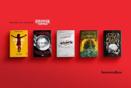Livraria Cultura - Because you watched Stranger Things