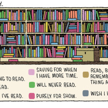 My library - Tom Gauld