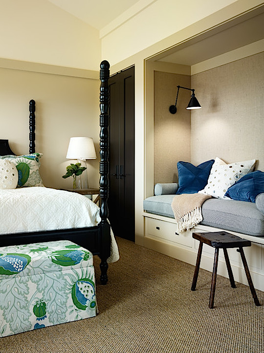 Bedroom reading nook by Jennifer Robin Interiors