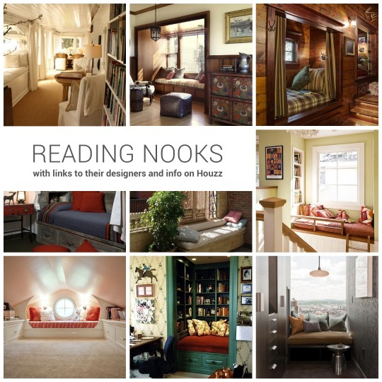 Cozy reading nooks with links to their designers