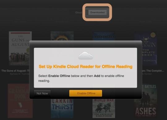 Kindle Cloud Reader - enable offline mode
