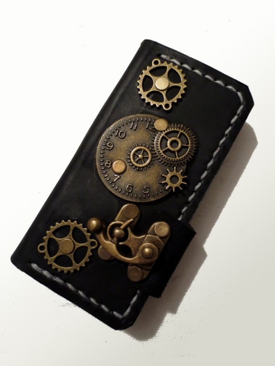 Papyrus Crafts Handmade Steampunk Book-style Case for iPhone 5/5S . a ...