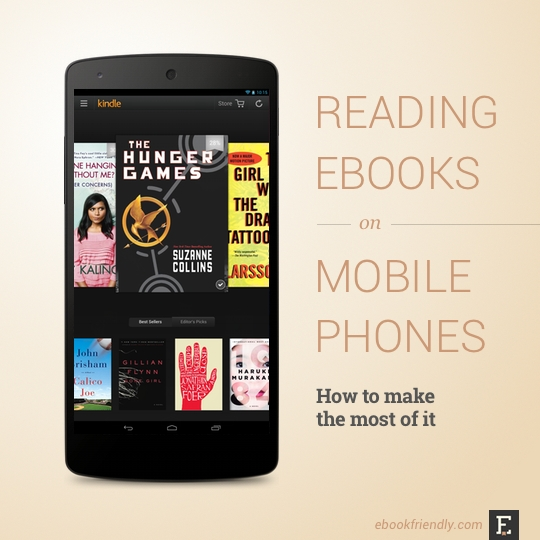 Reading ebooks on mobile phones