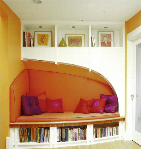 Reading nook by Morgante Wilson Architects