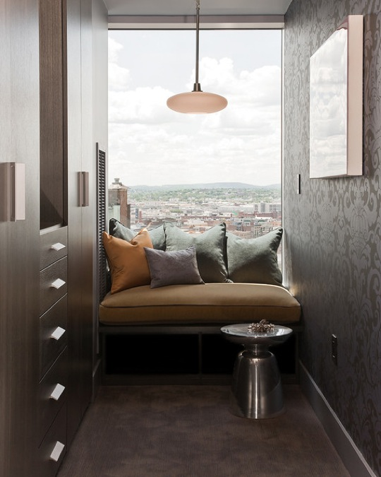 Reading nook with a view by Terrat Elms Interior Design