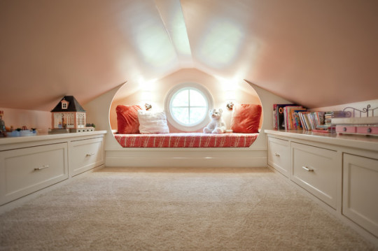Round window reading nook