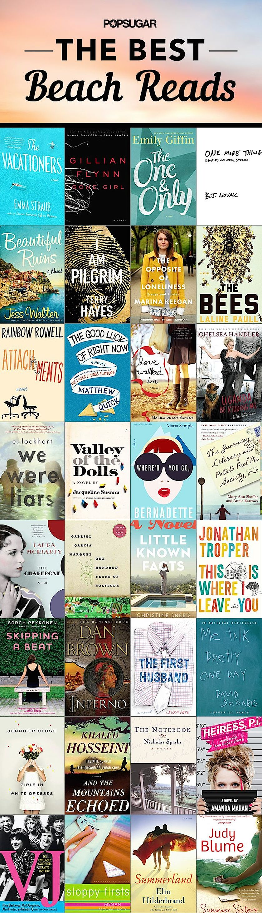 The best beach reads 2014 - infographic