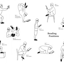 Unusual reading positions - fun chart
