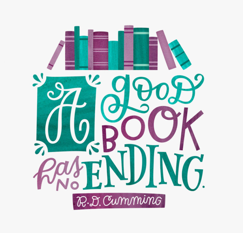 A good book has no ending. - R.D. Cumming #book #quote