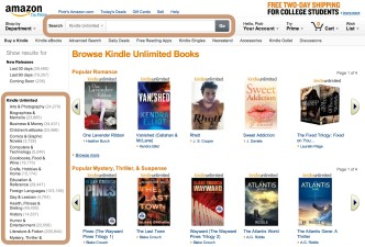 Kindle Unlimited catalog