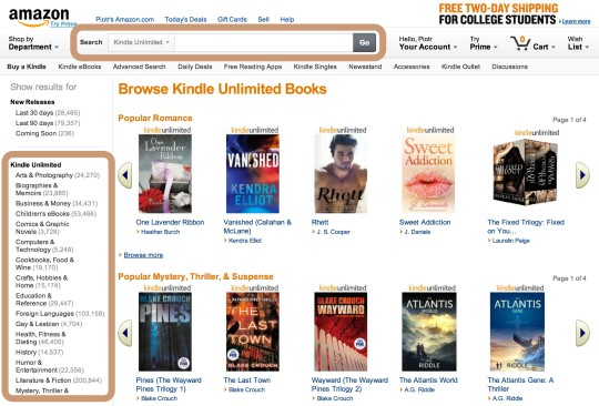 4 ways to find Kindle Unlimited ebooks on Amazon