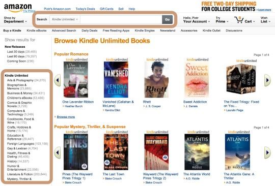 Kindle Unlimited catalog