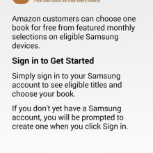 Kindle for Samsung - Book Deals sign up