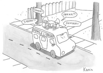 Mobile #library #cartoon