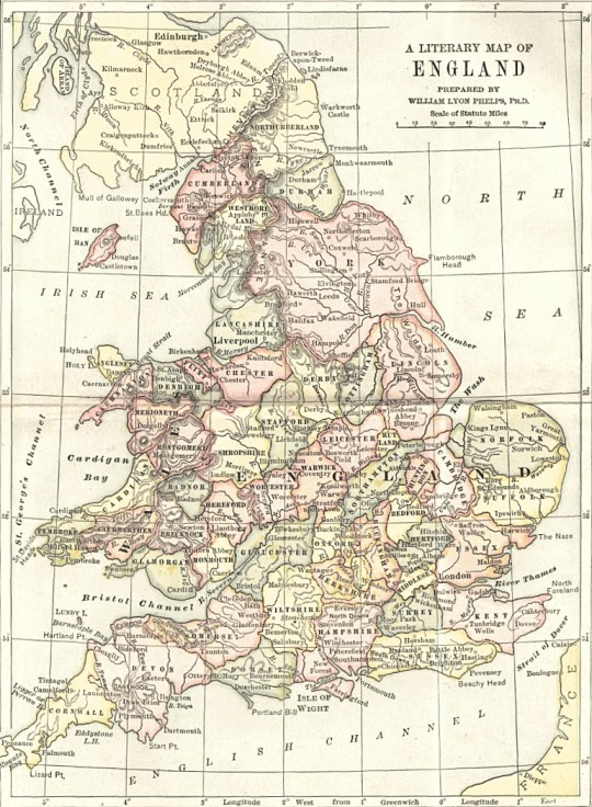 A literary map of England