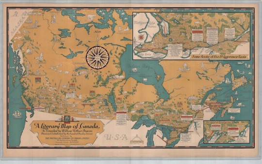 Deacon's Literary Map of Canada