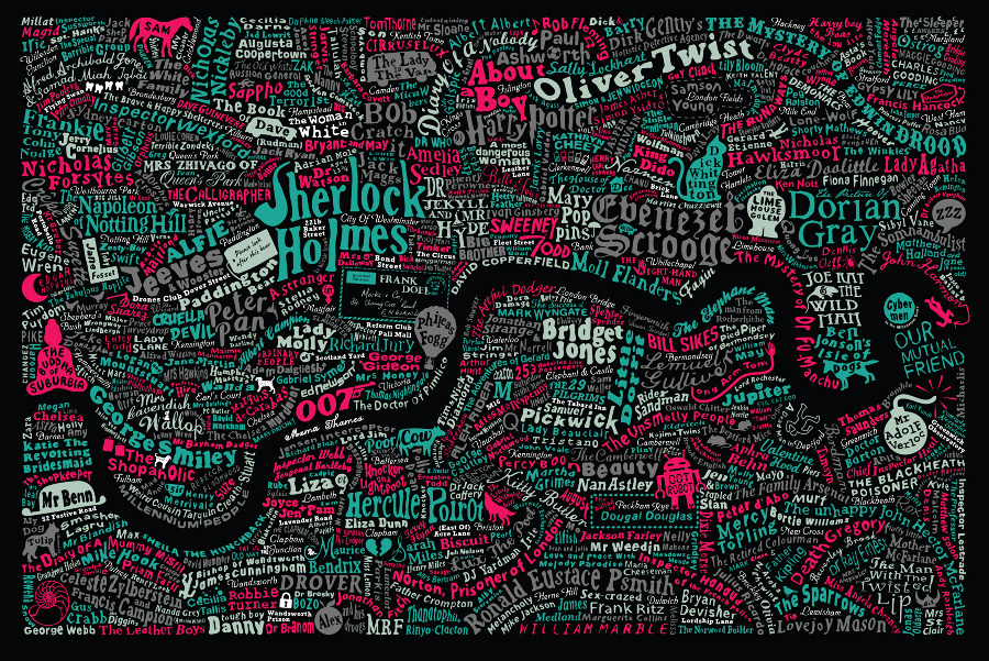 Literary maps - Literary London