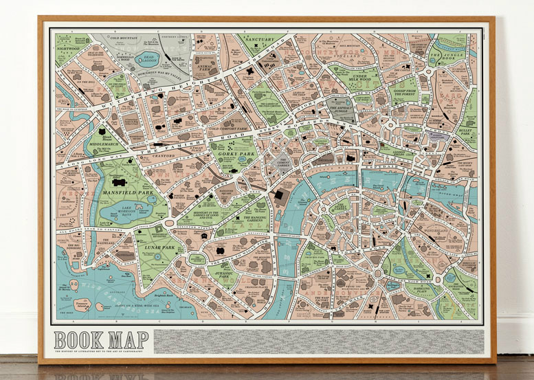 Literary Maps - London Book Map