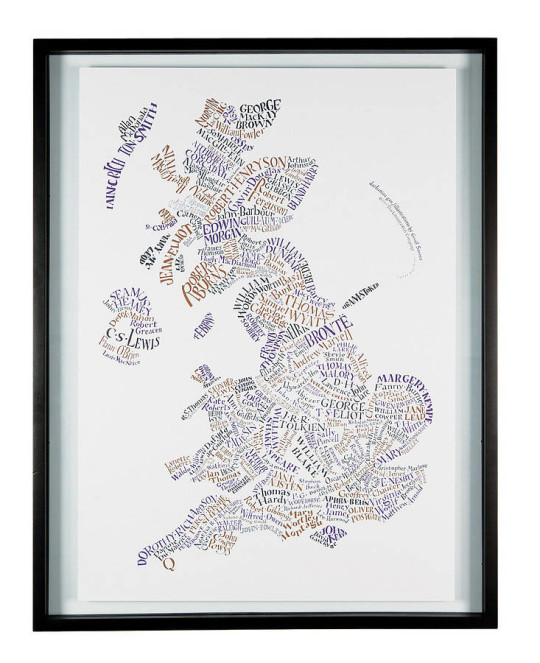 Literary maps - Literary Britain map