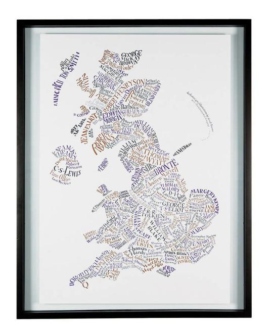 Literary maps - Literary Britain map