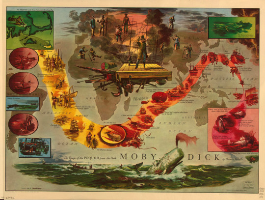 Moby Dick literary map