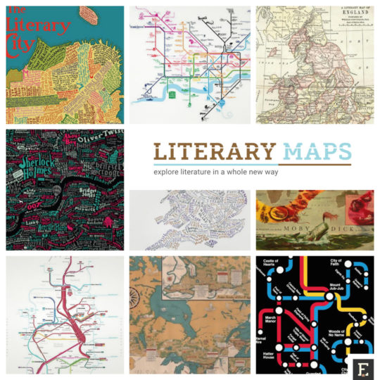 Most interesting literary maps for adventurous readers