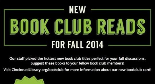 New Book Club Reads fall 2014 thumb