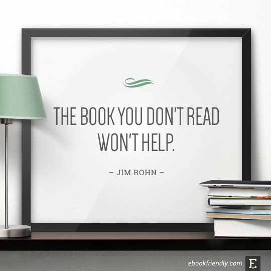 The book you don't read won't help. –Jim Rohn #book #quote