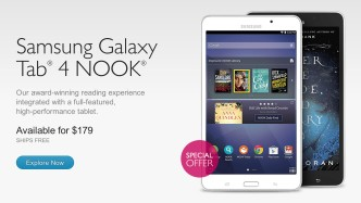 Samsung Galaxy Tab 4 Nook launch