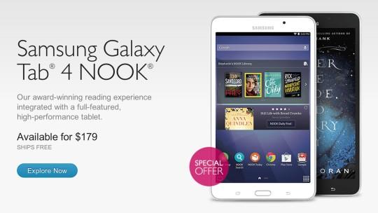 Samsung Galaxy Tab 4 Nook launch