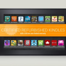 Save with certified refurbished Kindles